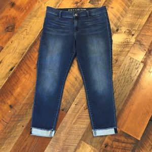 Juicy Couture Fade Wash Cuffed Skinny Jeans